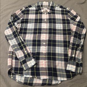 Equipment Femme Neiman Marcus Plaid Button Up Top